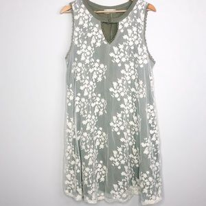 Altar'd State Floral Lace Overlay Shift Dress